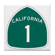State Route 1, California Tile Coaster