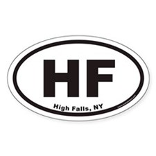 High Falls HF Euro Oval Decal
