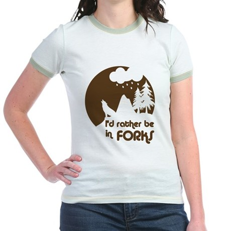 I'd rather be in Forks Jr. Ringer T-Shirt