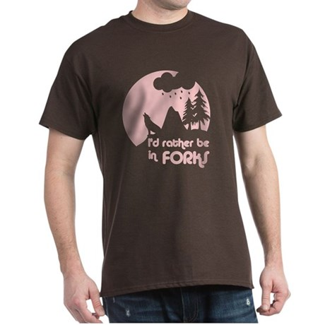 I'd rather be in Forks Dark T-Shirt