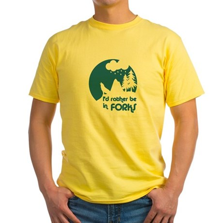 I'd rather be in Forks Yellow T-Shirt