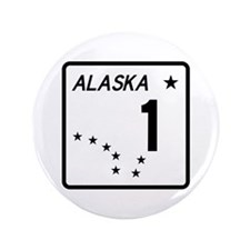 "Route 1, Alaska 3.5"" Button"