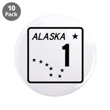"Route 1, Alaska 3.5"" Button (10 pack)"