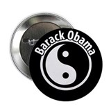 "Obama Yin Yang button 2.25"" Button"