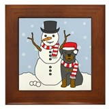 Rottweiler Winter Framed Tile
