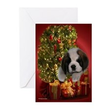 Christmas Saint Puppy Greeting Cards (Pk of 10)