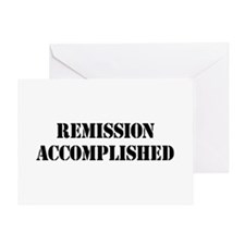 Remission Accomplished Greeting Card