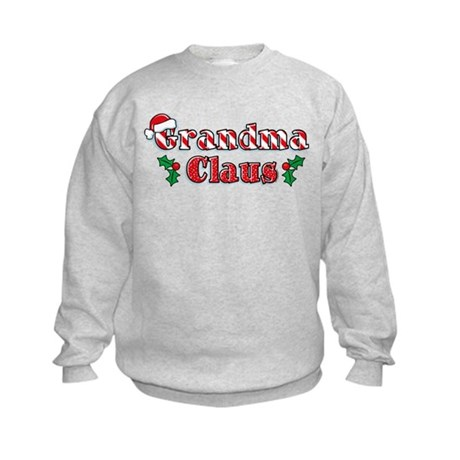 Grandma Claus Kids Sweatshirt