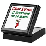 Santa Too Late Keepsake Box