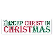 Keep Christ Cross Bumper Bumper Sticker