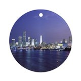 Miami at Twilight Ornament (Round)