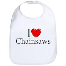 """""""I Love (Heart) Chainsaws"""" Bib"""