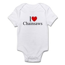 """I Love (Heart) Chainsaws"" Infant Bodysuit"