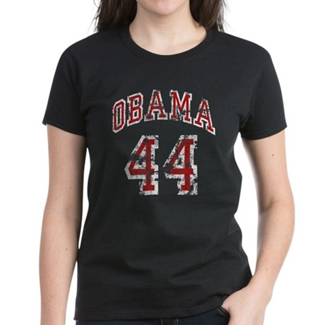 Barack Obama 44th President Women's Dark T-Shirt