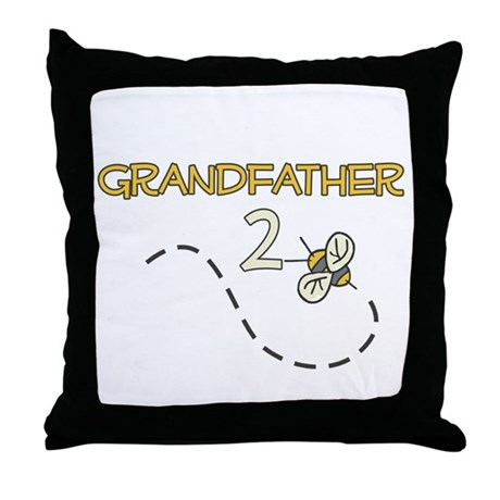Grandfather to Be (Bee) Throw Pillow