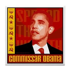 Commissar Obama Tile Coaster