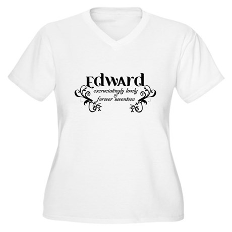 Twilight Edward Lovely Women's Plus Size V-Neck T-