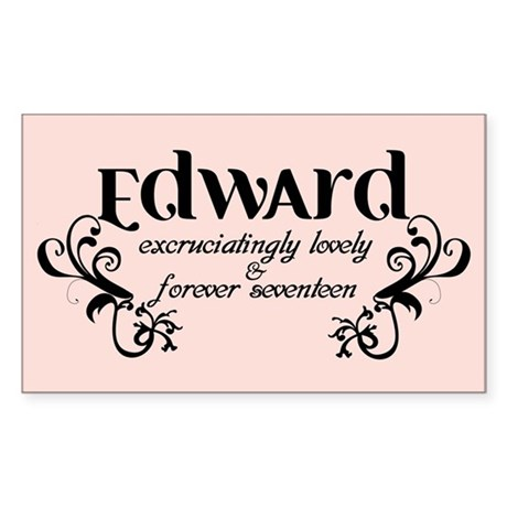Twilight Edward Lovely Rectangle Sticker