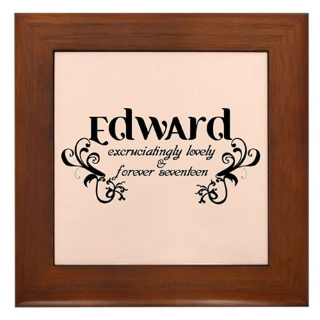 Twilight Edward Lovely Framed Tile