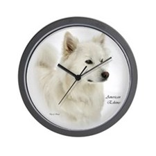 American Eskimo Dog Gifts Wall Clock