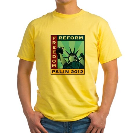 Palin 2012 Liberty Yellow T-Shirt