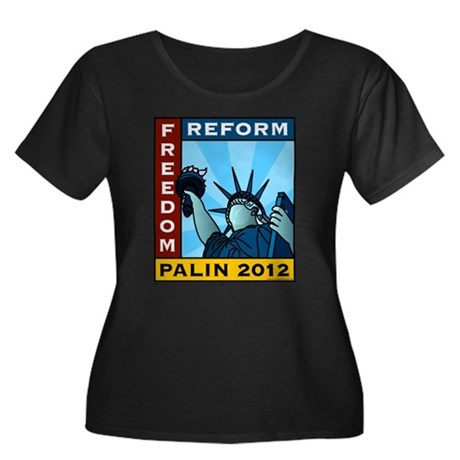 Palin 2012 Liberty Women's Plus Size Scoop Neck Da