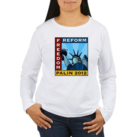 Palin 2012 Liberty Women's Long Sleeve T-Shirt