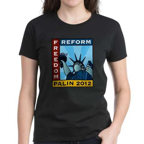 Palin 2012 Liberty Women's Dark T-Shirt