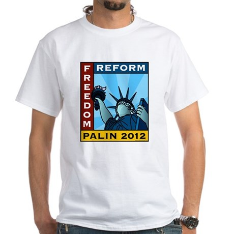 Palin 2012 Liberty White T-Shirt