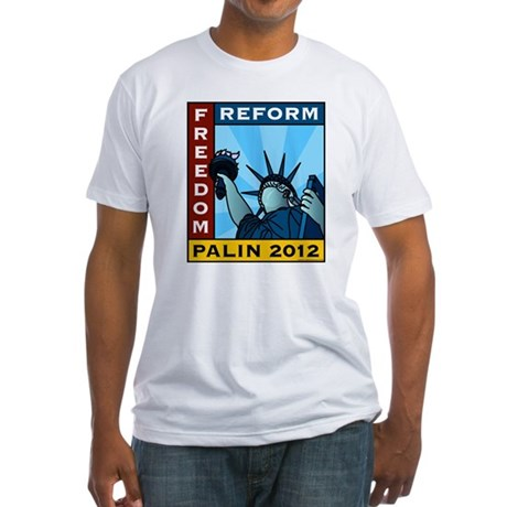 Palin 2012 Liberty Fitted T-Shirt
