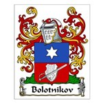 Bolotnikov Family Crest Small Poster