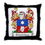 Bolotnikov Family Crest Throw Pillow