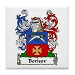 Borisov Family Crest Tile Coaster