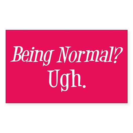 Normal Ugh Twilight Rectangle Sticker 50 pk)