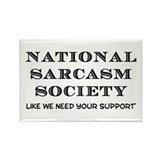 National Sarcasm Rectangle Magnet
