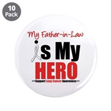 "Lung Cancer Hero (FIL) 3.5"" Button (10 pack)"