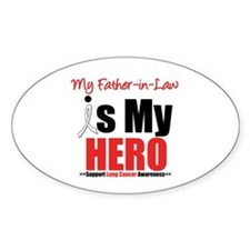 Lung Cancer Hero (FIL) Oval Sticker (10 pk)