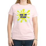 Kiss My Splash Women's Pink T-Shirt