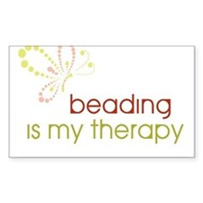 Beading is my Therapy Rectangle Decal