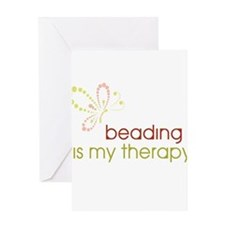 Beading is my Therapy Greeting Card