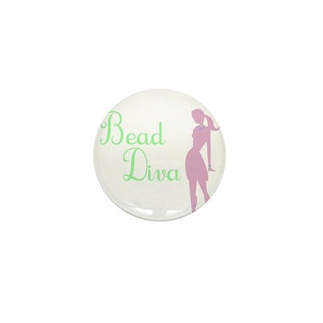 Bead Diva Mini Button (10 pack)