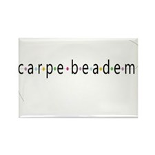 Carpe Beadem Rectangle Magnet