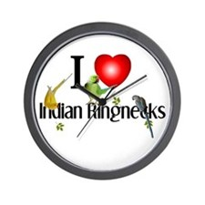 Indian Ringnecks Wall Clock