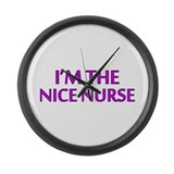Pink Nice Nurse Large Wall Clock