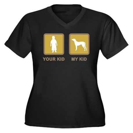 Rhodesian Ridgeback Women's Plus Size V-Neck Dark