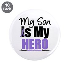 "My Son is My Hero (HL) 3.5"" Button (10 pack)"