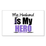My Husband is My Hero (HL) Rectangle Sticker 10 p