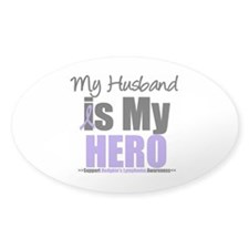 My Husband is My Hero (HL) Oval Sticker (10 pk)