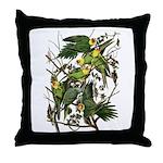 Audubon's Carolina Parakeet Throw Pillow