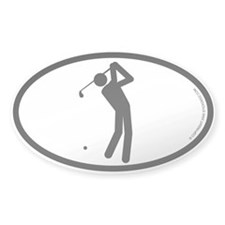 """Golfer"" - Oval Decal"